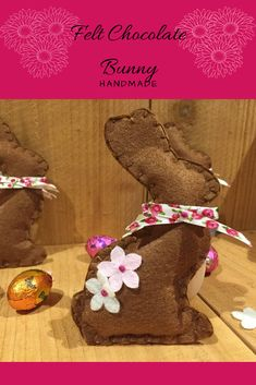 These adorable chocolate bunnies are perfect for Easter and Spring decorating!  They would also make a cute gift or be perfect in an Easter Basket!