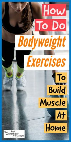 Can't go to the gym? Here is a complete list of exercises you can do from home. These home exercises are perfect for beginners to help you get strong and build muscle Home Strength Training, Leg Training, Body Weight Training, Bodyweight Strength Training, Training Workouts, Muscle Training, Muscle Building Women, Muscle Building Workouts, Best At Home Workout