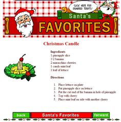 Dress up your party with decorations you can eat! This CHRISTMAS CANDLE is a wonderful idea to add a holiday look you can taste!
