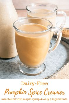This Dairy-Free Pumpkin Spice Creamer is the perfect fall coffee creamer! A special treat without all the added sugar! Pumpkin Spice Creamer, Pumpkin Pie Spice, Pumpkin Puree, Fall Recipes, Keto Recipes, Cooking Recipes, Recipe Maker, Fall Baking, Dairy Free