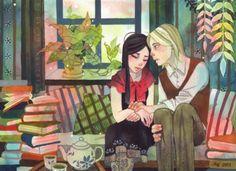 Confessions … Love or literary? / Confesiones… amorosas o literárias? (ilustración de Riikka Auvinen)
