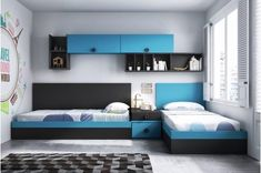 Small Kids Bedroom Design And Decor Ideas For Boys - Shared Boys Rooms, Kids Bedroom Boys, Kids Bedroom Designs, Shared Bedrooms, Kids Room Design, Boy Room, Kids Bedroom Furniture Design, Kids Rooms, Bedroom Sets
