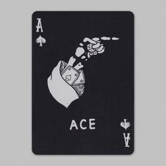 Camp Playing Cards were designed for those who venture onward and live adventurously. Illustrated by in collaboration Bradley Mountain and Art of Play. Black Spades, Ace Of Spades, House Of Cards, Hand Tattoos, Hand Lettering, Custom Design, Playing Cards, Camping, Creative