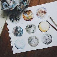 Image de art, moon, and drawing