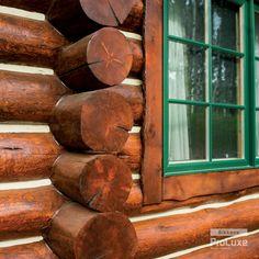 Swedish Cope Log Profile With SIKKENS® PROLUXE™ Cetol® Log U0026 Siding Wood  Finish