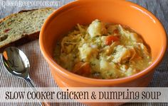 Slow Cooker Chicken and Dumpling Soup. Super easy and healthy. Your kids will eat it up. #crockpot