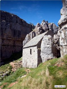 St Govan's Head, Pembrokeshire, Wales. This is in a beautiful setting and overlooks the sea. There is nothing else here except this little building.