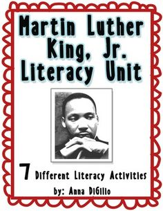 Get ready for Martin Luther King, Jr. Day with this Literacy Unit!  Seven literacy activities about Martin's life, our Dreams, and an Peace Sign Accordion Timeline Craftivity.  FUN...FUN...FUN!!
