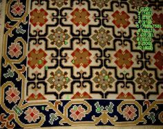 Cross Stitch Embroidery, Needlepoint, Bohemian Rug, Diy And Crafts, Carpet, Traditional, Rugs, Pattern, Disney