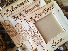 SET of 3 Will you Be My Bridesmaid Maid of Honor - Special & Personal Way Ask Them to be in your Wedding Day Custom Frames, $53.99