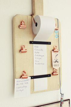 Einkaufslisten Organizer, DIY, altes Holzbrett,