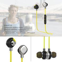 Morul U5 Waterproof Swimming Wireless Bluetooth Sports NFC Headset Earphone