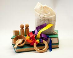 Waldorf Busy Bag, Wood Toys, Montessori, Natural Montessori inspired Busy bag, Toys, Organic Toys, Airplane Toys, Travel Toys