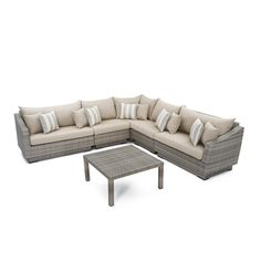 RST Brands Cannes 6-Piece Patio Corner Sectional Set with Moroccan Cream Cushions-OP-PESS6-CNS-MOR-K - The Home Depot Furniture Logo, Cheap Furniture, Furniture Sets, Outdoor Furniture, Blue Furniture, Steel Furniture, Lounge Furniture, Furniture Companies, Pallet Furniture