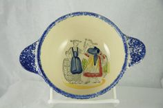 Henriot Quimper Lug Bowl France Faience Breton Hand Made and Painted Jaqueline #france