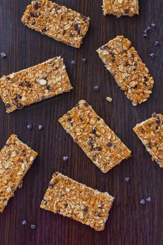 Easy-to-make, healthy granola bars that are homemade - packed with rolled oats, crispy cereal,