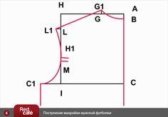 Построение выкройки мужской футболки | RedCafe.ru