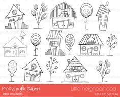 house neighbourhood digital stamp commercial use - PGDSPK397 #prettygrafik