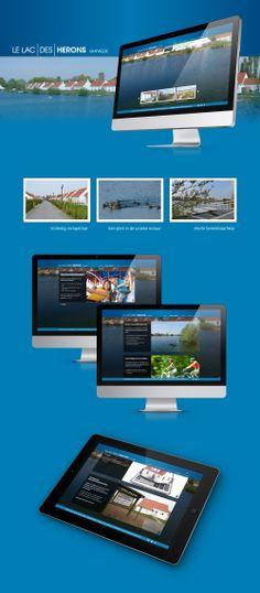 Website voor Le Lac des Hérons