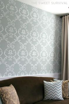 DIY My Faux Wallpaper Accent Wall Tutorial