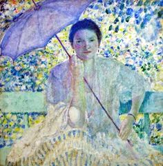 Lady with the Sunshade. Frederick Frieseke