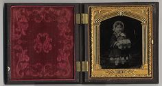 [Small Girl with Fur Muff] Unknown, American      1850s–60s     ambrotype  Gift of Mrs. William Cushing, 1964 64.540.1
