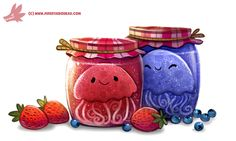 Daily Paint #1163. Jelly-Fish by Cryptid-Creations.deviantart.com on @DeviantArt