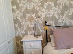 Wisteria wallpaper Farrow & Ball. Lamp made.com