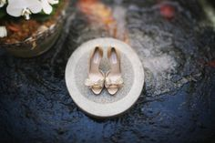 Gold Valentino wedding shoes with sparkly bows and Fashion, Giveaways, Shoes Valentino Wedding Shoes, Valentino Couture, Bohemian Wedding Inspiration, Thing 1, Bride Look, Event Photography, Bridal Shoes, Wedding Day, Wedding Blush