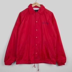 Everyday Red Coaches Jacket #xcvb #clothes #clothing #red #jacket #outerwear #coach #coaches #fashion #streetwear