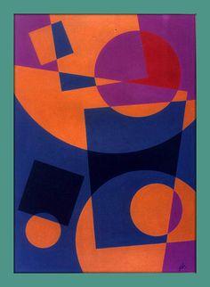 Geometric Art... From Kandinsky to Mcclure... http://fineartamerica.com/featured/counter-balance1984-peter-hugo-mcclure.html