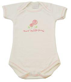 #Tiny Me Envelope Neck White #Bodysuit Flowers available online at http://www.babycity.co.uk/