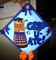 creative graduation cap doctor who