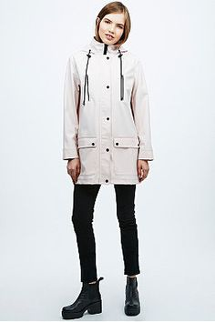 Fell in love with this today, Sparkle & Fade 4-Pocket Raincoat in Pink // Urban Outfitters