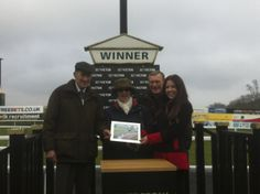 In the winners enclosure at Chepstow - March 2013