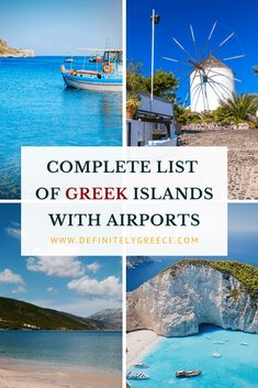 A Complete List Of The Greek Islands That Have Airports - - Not all Greek islands have airports! Out of more than islands and 200 inhabited ones, here are the Greek islands that you can visit by flying. Greece Itinerary, Greece Travel, Croatia Travel, Hawaii Travel, Italy Travel, List Of Greek Islands, Mykonos Island, Europe Destinations, Holiday Destinations