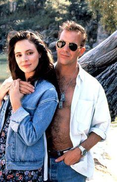 """Madeline Stowe & Kevin Costner in """"Revenge"""" (1990)"""