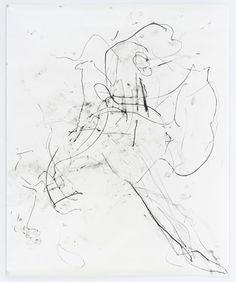 Trisha Brown    Untitled (Montpelier), 2002  Charcoal on paper  130 x 106.75 inches  330.2 x 271.1 cm