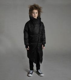 designed for trailblazers, our long down coat is the epitome of style and substance. this unisex kids' jacket boasts contemporary tailoring, including a dramatic angled hemline and diagonal zip closure that extends to the neckline. featuring a cozy cotton lining, our box-quilt design ensures warmth is distributed evenly, while our oversized hood keeps out the chill. available for toddlers, kids, tweens/teens up to age 14 years old. Available for boys and girls from 12-18 up to 18-24 mon...