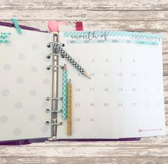 2017 Every month foldable MO2P calendar  by AlaBelleEtoileDesign