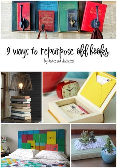 Upcycled crafts, repurposed furniture, recycled books, book projects, diy c Sell Old Books, Old Book Crafts, Old Children's Books, Diy Reuse Old Books, Upcycled Crafts, Diy And Crafts Sewing, Diy Crafts To Sell, Book Projects, Diy Craft Projects