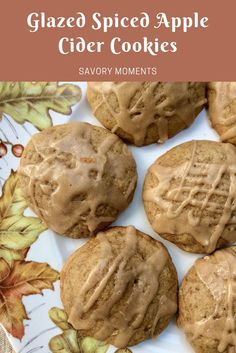 Friday Frenzy Link Party Posts Savory Moments: Glazed spiced apple cider cookies you can find similar pins below. We have brought the best of the foll. Apple Cider Cookies, Caramel Apple Cookies, Spiced Apple Cider, Spiced Apples, Caramel Apples, Apple Recipes, Fall Recipes, Cookie Recipes, Dessert Recipes