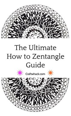 How to Zentangle #zentangle #doodle #drawing