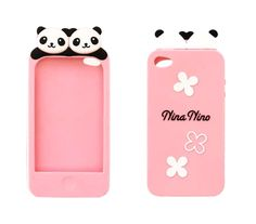 Super cute panda iPhone 4 / 4S case (pink).  Buy now for only $14.99!