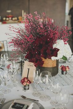 Pantone's 2015 color of the year goes to... Marsala! Here are 16 marsala wedding decor ideas! {Chaz Cruz Photography}