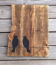Love Birds Pallet Art Hand painted Birds by RescuedandRepurposed, $35.00