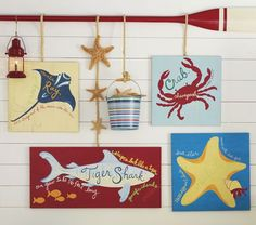 Primary Surf Plaques | Pottery Barn Kids