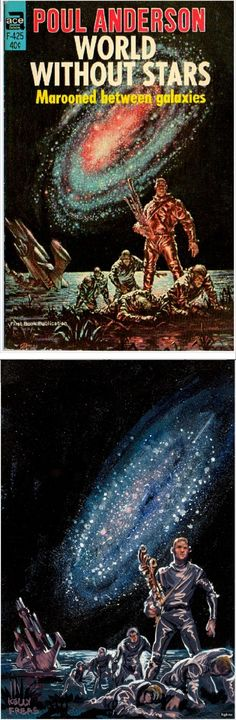 FRANK KELLY FREAS - World Without Stars - Poul Anderson - 1967 Ace Books F-425 - cover by isfdb - print by randar.com