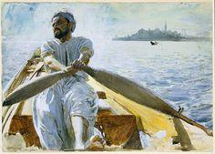 Anders Zorn Caique Oarsman, 1886 Watercolor