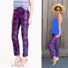 JCrew Garden Pant in Midnight Floral - 4 Love these and have every piece in this print but these are bit big for me :( NWT, never worn, still have the store creases in them  J. Crew Pants